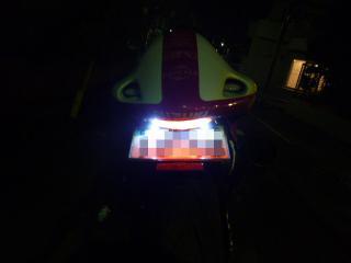 LEDナンバーボルト点灯
