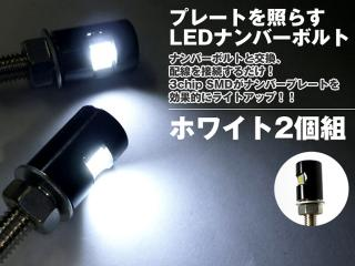 LED内臓ナンバーボルト