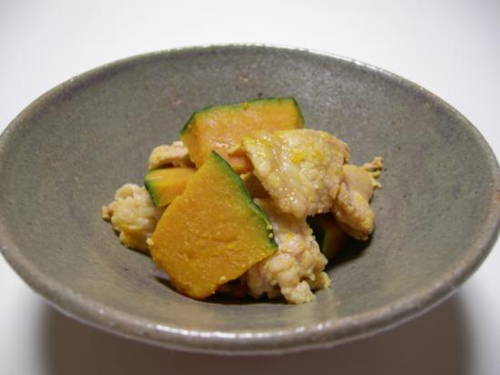【減塩レシピ】豚肉と南瓜の辛子和え