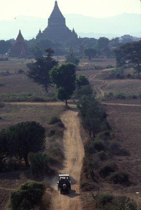 バカン遺跡、シューサンドウパゴダからの眺め