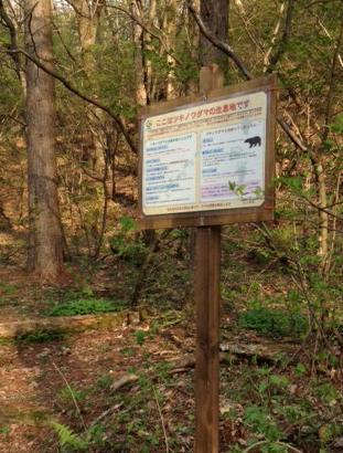 野鳥の森看板