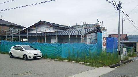 0769 サッシ、屋根工事完了