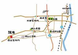 奥山邸地図
