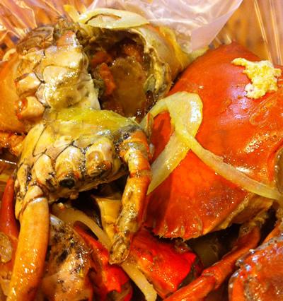 隆廟口夜市バター蟹