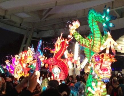 台北ランタン祭竜たち