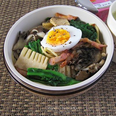 筍と菜花のパスタ弁当02