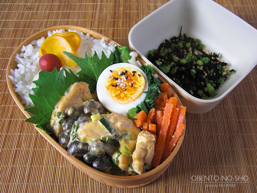 鶏としめじのマヨ辛炒め弁当01