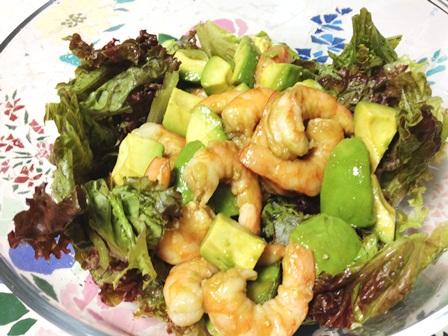 アボカド海老のサラダ