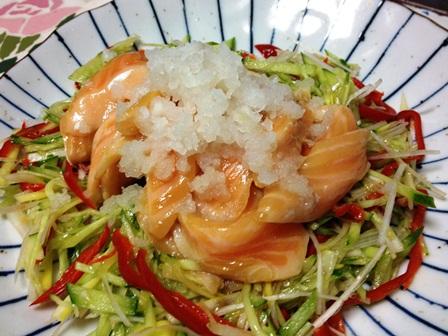 鮭のハラスサラダ