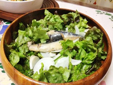 オイルサーディンのサラダ