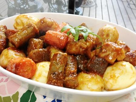 オイスターソースで根菜の炒り煮
