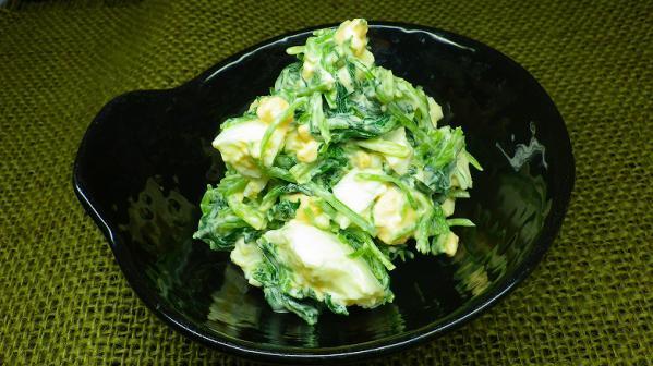 三つ葉と卵