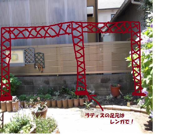 2012年6月29日南花壇フェンス計画