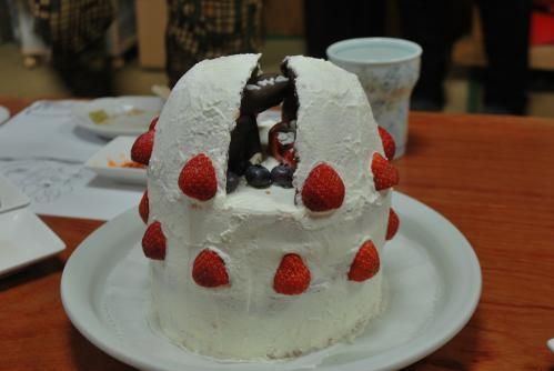 天文台ケーキ1