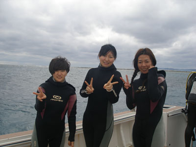 午後体験ダイビング