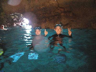 送迎付き青の洞窟シュノーケル