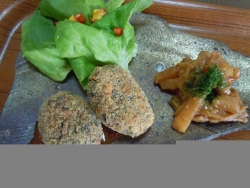 26 1 24 黒豆のカツレツ 干瓢のソテー