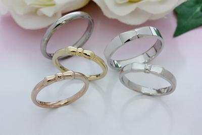 【Oreficeria高林】静岡県浜松市オーダーメイドの婚約指輪(エンゲージリング)・結婚指輪(マリッジリング)/リボン