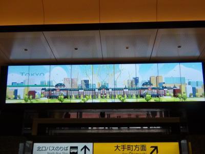 東京駅丸の内駅舎内のビジョン