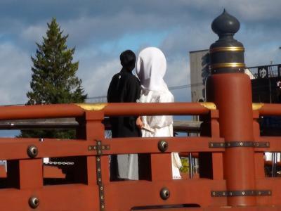 神橋での結婚式