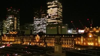 東京駅丸の内駅舎のライトアップ