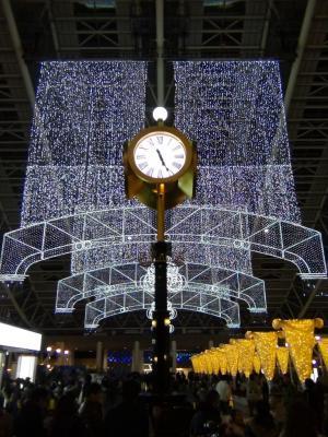 時空の広場のライトアップ