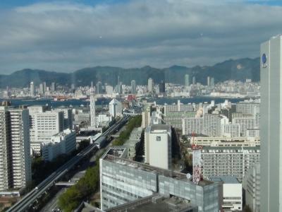 ポートピアホテルから神戸市内を望む