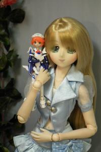 アイドルと神姫さん。