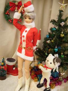 サンタさんをナンパするクマ。