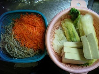 下ゆで野菜