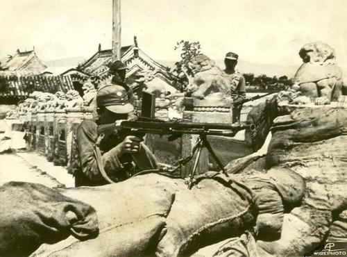 chinese nationalist army soldiers in the marco polo brigde (july 1937)