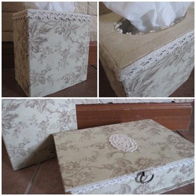 Book型の箱とティシュBOX