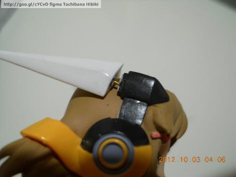 このように、figma立花響のアンテナを針金で直せます。