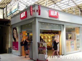 Relay パリ 駅構内 売店 kiosque