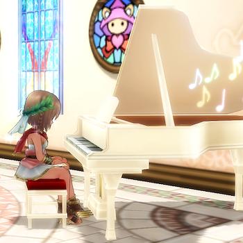 グランドピアノ(白)