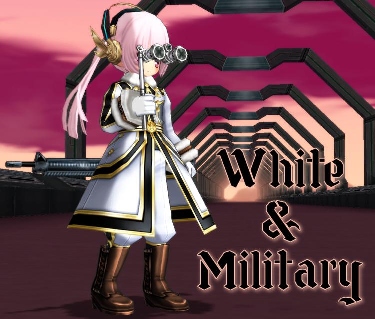 雪国の将校服(白)