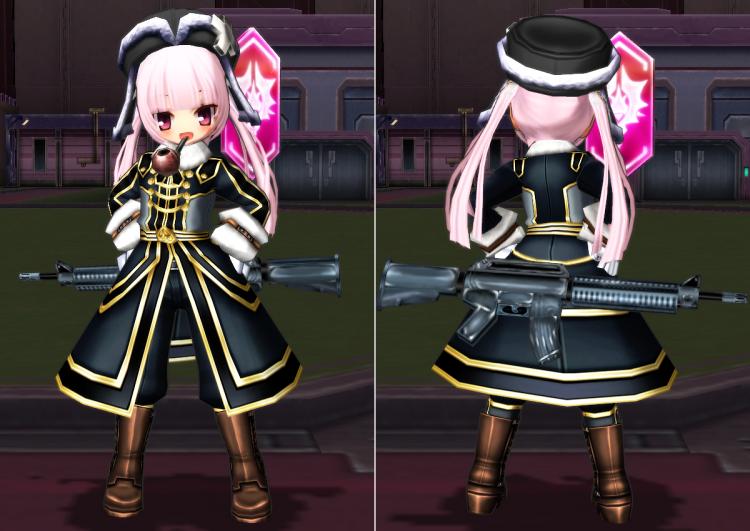 雪国の将校服(黒)