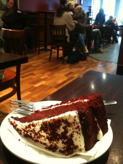 Red Velvet Cake at Cafe Nero
