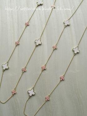 桜色ネックレス