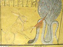 アペプヘビ。(インヘルカウの墓壁画)