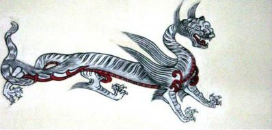 キトラ古墳 白虎復元イメージ