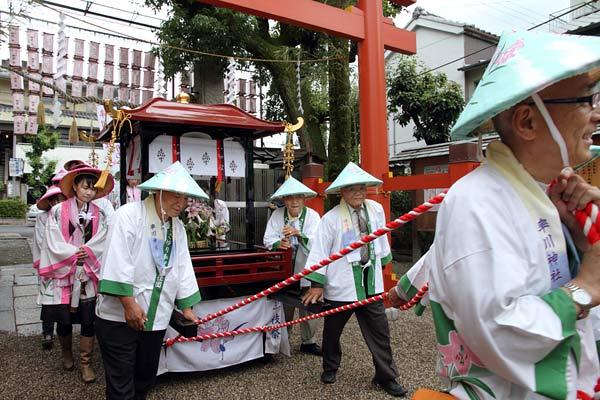 率川神社 ささゆり奉献3