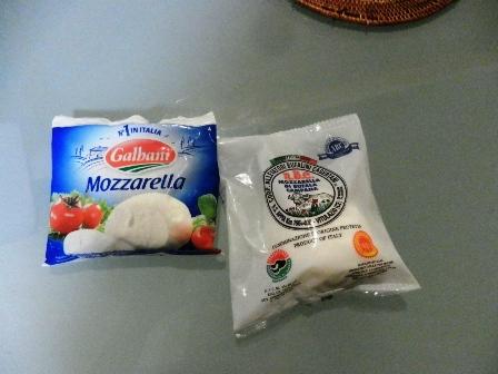モッツァレラチーズ 2種