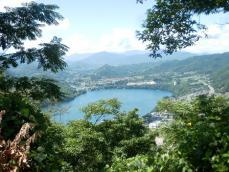 嵐山頂上からの展望