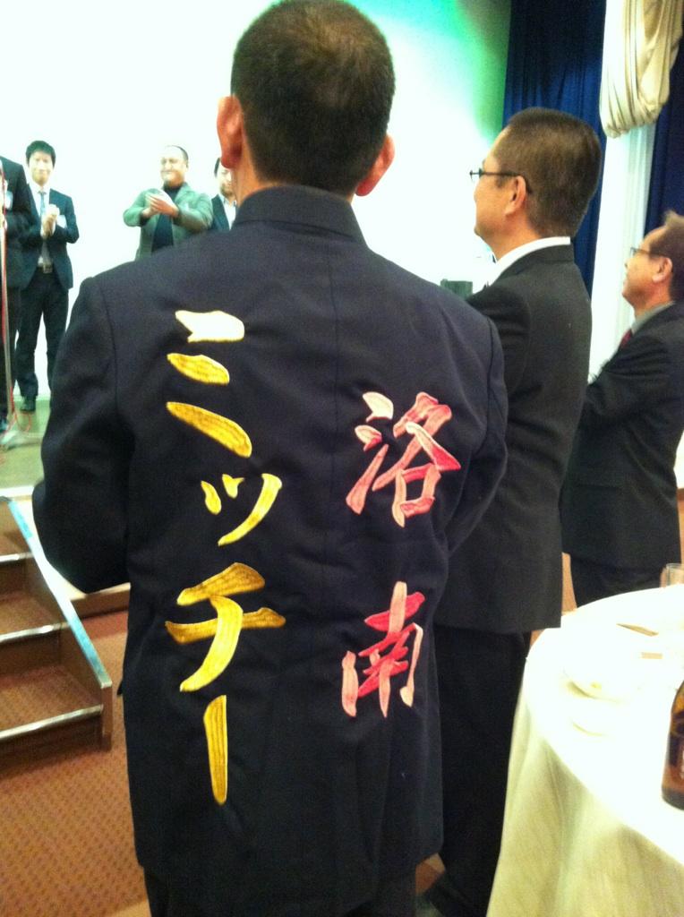 中島先生卒業式