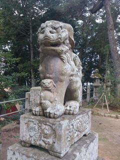 玉作湯神社狛犬(阿)