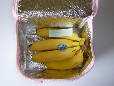 バナナの冷蔵庫保存実験