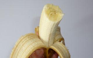 冷蔵庫で保存したバナナの味