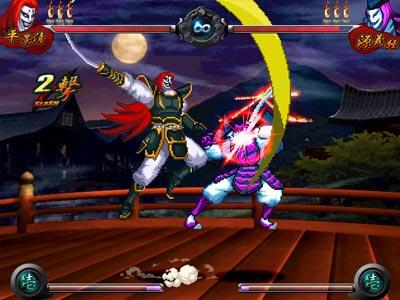 源平闘乱は源平討魔伝のキャラクターを使った2D格闘ゲーム