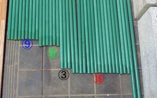 簡易ビニール温室の骨組み